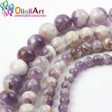 Круглые фиолетовые хрустальные бусины olingart 4 6 8 10 12 мм
