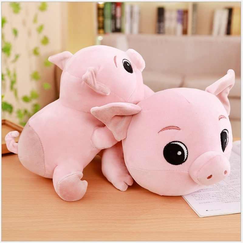Porco cor de rosa bonito almofada travesseiro brinquedos de pelúcia bichos de pelúcia brinquedos porco dos desenhos animados presentes criativos para o Dia Dos Namorados Aniversário