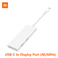 Original Xiao mi USB-C zu mi ni DisplayPort Multi-funktion Adapter Kabel 4K HD Smart Ladegerät Für Macbook mi Laptop Tablet Typ-C