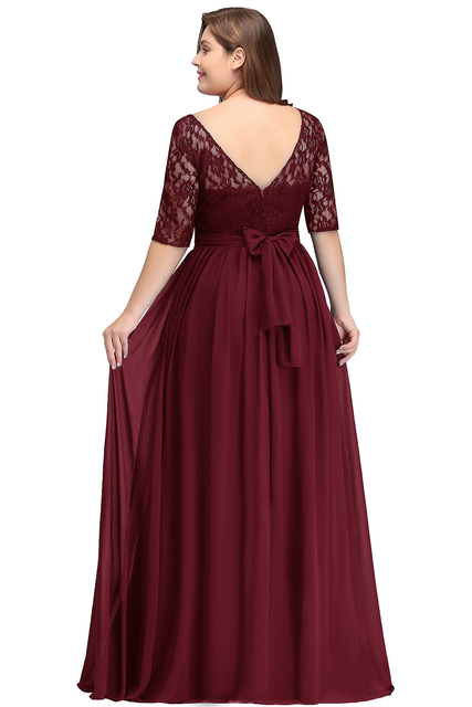 2018 długie tanie Suknie dla Druhen pod $50 Długość podłogi koronki plus rozmiar druhna sukienka Vestido de Madrinha de Casamento Longo