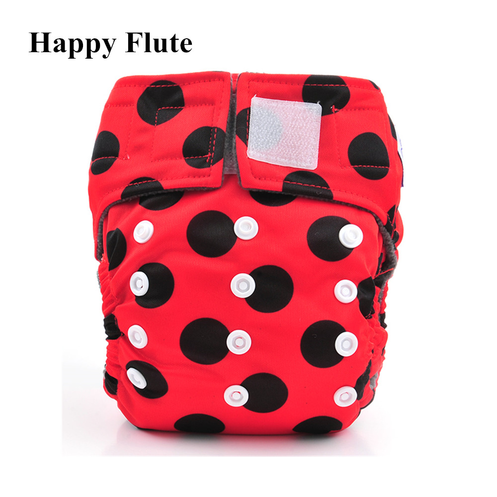Happy Flute Newborn AIO Diaper Cloth Diaper Pocket Diaper, Breathable Bamboo Charcoal Double Gussets Inner  Waterproof PUL Outer