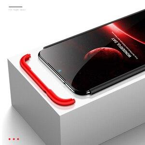 Image 3 - 3 in 1 Plastic Hard 360 Tempered Glass + Case for Xiaomi Redmi Note 7 Anti Shock Back Cover Case for Xiaomi Redmi Note 7 Pro 7A