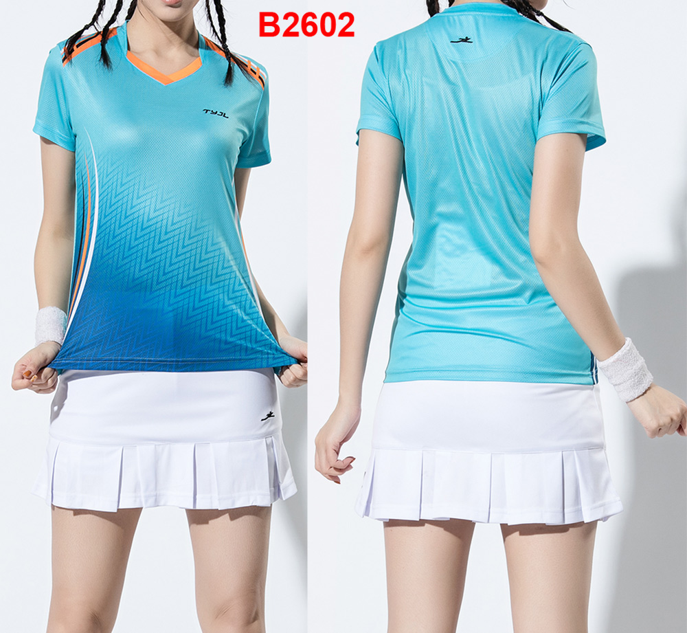 new women fitness badminton clothes  sport shirts