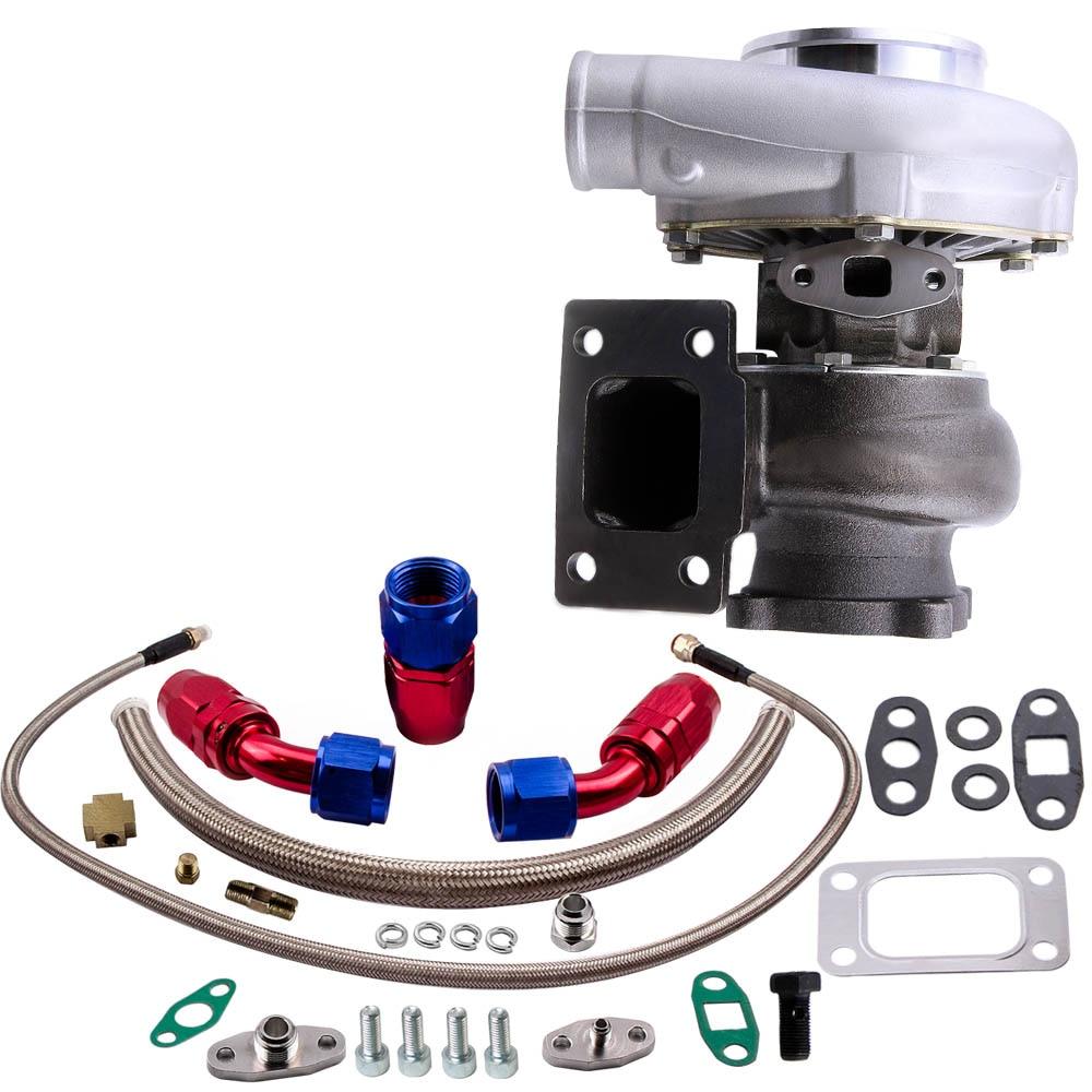 Wasser Öl GT30 GT3037 GT3076 Turbo Ladegerät 500HP + Öl Ablauf Rückkehr Zuleitung Kit-in Turbolader & Teile aus Kraftfahrzeuge und Motorräder bei