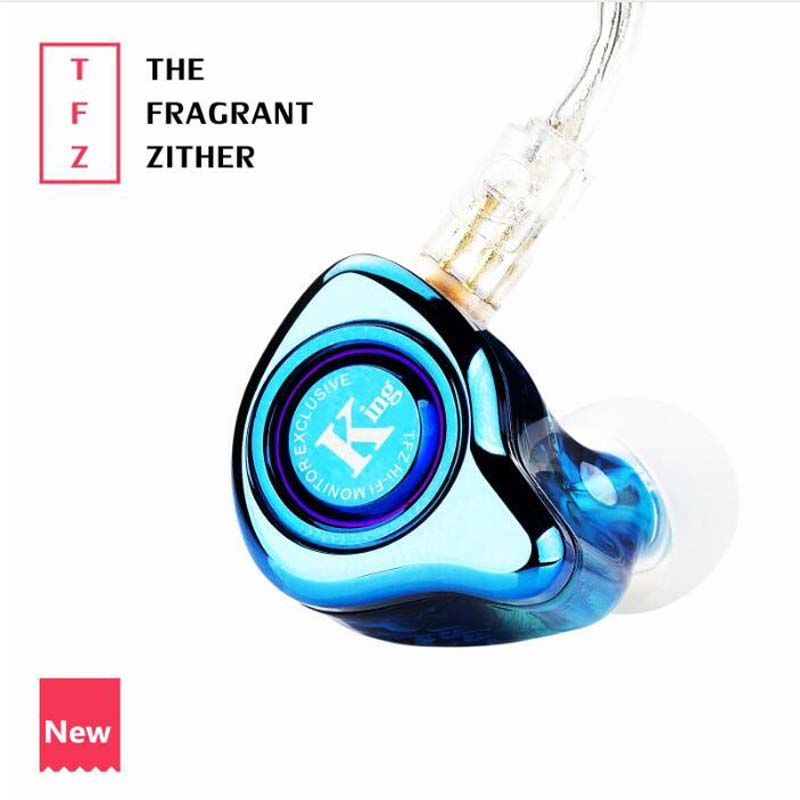 TFZ EXCLUSIVE KING HIFI The Fragrant Zither Monitor In Ear Sports Earphone Customized Dynamic DJ Earphone original tfz exclusive king hifi monitor