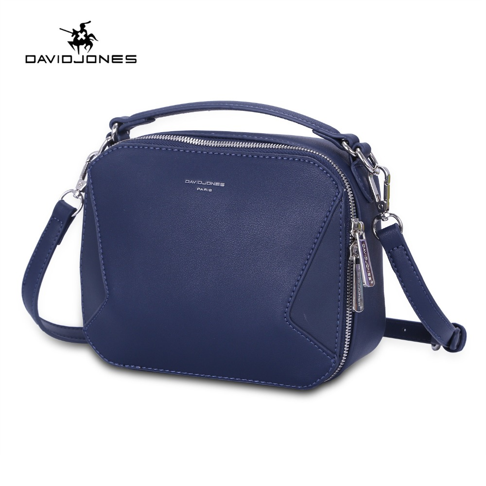 DAVIDJONES women shoulder bags faux leather female messenger bags small lady patchwork handbag girl crossbody bag drop shipping new designer brand cute small messenger bag small handbag girl 3 colors crossbody bag lady female women messenger bags gift