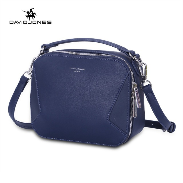 309c9db14e61a DAVIDJONES women shoulder bags faux leather female messenger bags small  lady patchwork handbag girl crossbody bag