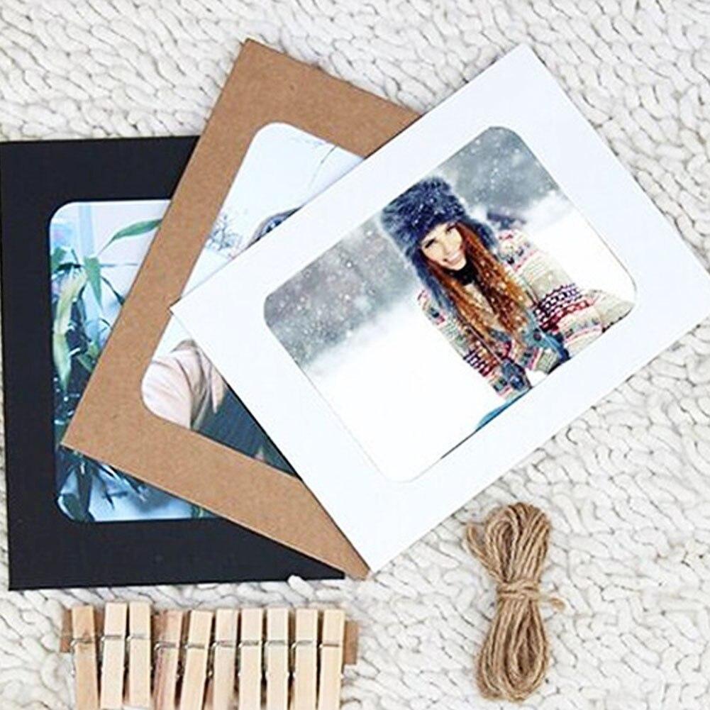 venta caliente unidslote pulgadas marcos de fotos de bricolaje para la imagen