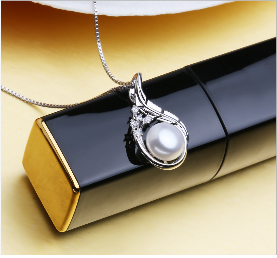 FENASY Bohemian Ruby Necklace Pearl Jewelry necklaces & pendants flower Jewelry,necklace women 925 silver necklace for women 9