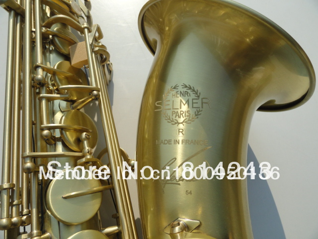 France Henri Selmer 54 Selmer Bb Tenor Saxophone Instruments Reference 54 Bronze Antique Copper Tenor Sax Gold Professional tenor saxophone high quality selmer tenor sax bb 54 professional reference sax bronze musical instruments