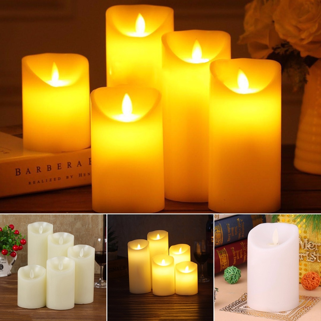 JX-LCLYL Electronic LED Flameless Carve Swing Flickering Simulation Candle Light Romantic