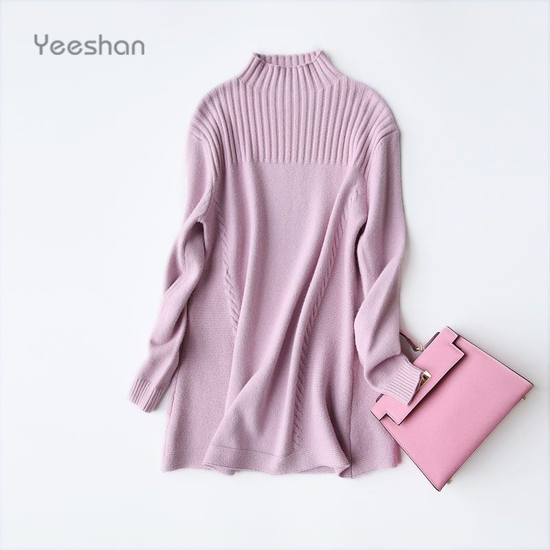 Aliexpress.com : Buy Yeeshan Turtleneck Cashmere Sweater Women ...