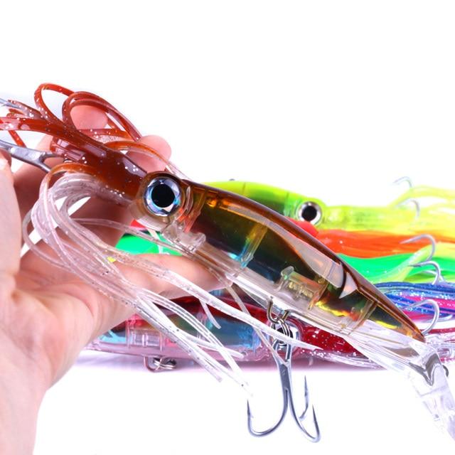 14 cm/40g 5 Tipos Bionic Iscas Artificiais Iscas De Pesca Duro Saias Lula Polvo Corrico Iscas Com Gancho equipamento de Pesca Equipamento de Pesca
