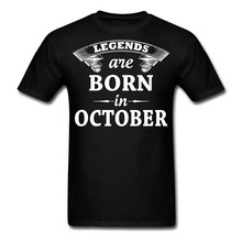 Fun Shirts Short Sleeve Men Gift Legends Are Born In October Birthday MenS O-Neck