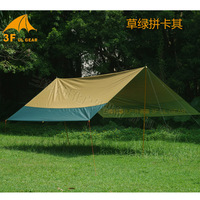3F UL Gear 5x4 5M Versatile Silver Coating Waterproof Sunscreen 210T Taffeta Hanging Tarp Tent Beach