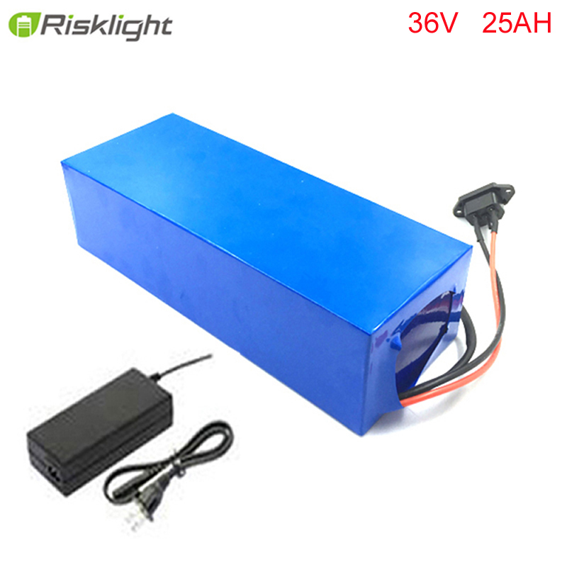 DIY high quailty 36v 25ah lithium battery for ebike 36v 1000w electric bike li-ion battery pack with charger and bms diy e scooter battery pack 36v li ion electric bike battery 36v 12ah lithium battery with bms and charger