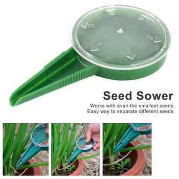 Seed Sower 5 rozmiar ustawienie sadzarka artykuły ogrodowe ręczny kwiat roślina siew narzędzia ogrodnicze 1 Pc tanie i dobre opinie GD00059 Z tworzywa sztucznego Przedszkole tace i pokrywki Nie powlekany 12 5*6 5cm