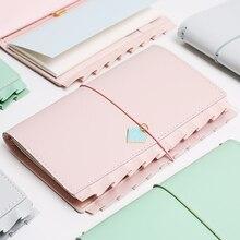 Yiwi flouncing caderno padrão bolso passaporte com 2 recargas para diário planejador organizador escola estacionária