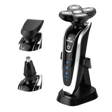 Hot! Brand 4D floating 3in1 Waterproof Electric shavers travel use with nose trimmer Razor Safety Professional shaver for man