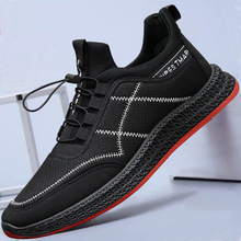 YeddaMavis Sneakers 2019 Spring New Fashion Mens Shoes Casual Breathable Lace Up Running Soft Bottom Black Men