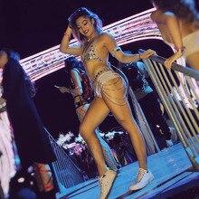Rhinestone Women Waist Belt Chain Top Bra Harness Summer Bikini Water Drop Bodychain
