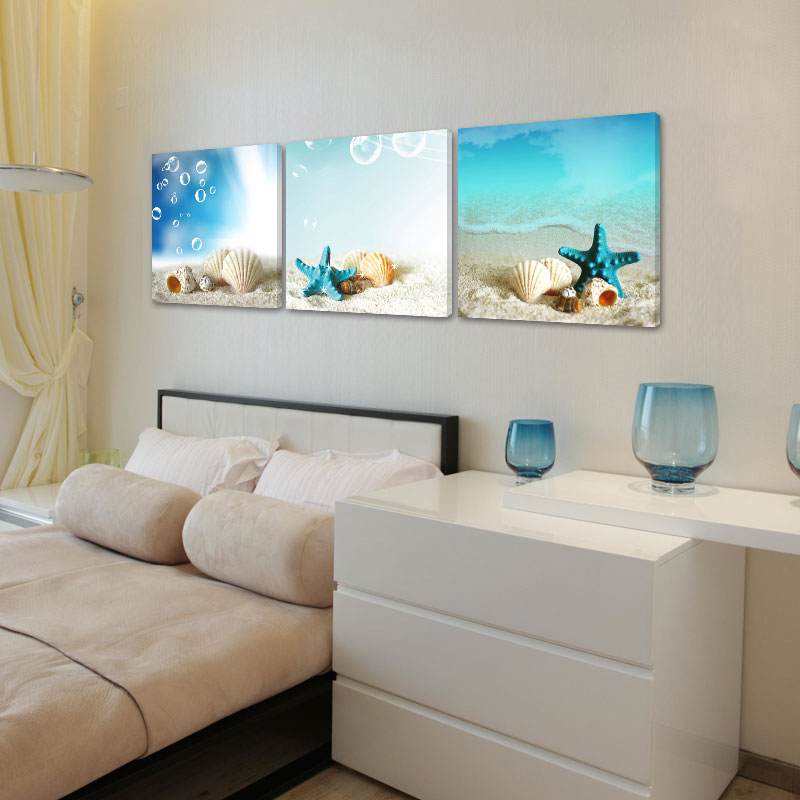 Aliexpress Com Buy 3 Piece Canvas Art Home Decoration: Aliexpress.com : Buy 3 Piece Wall Art Abstract Blue