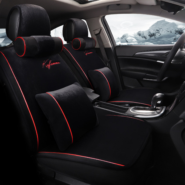 2018car interior accessories cushion styling winter plush car seat cover Universal Automobile Seat Cover