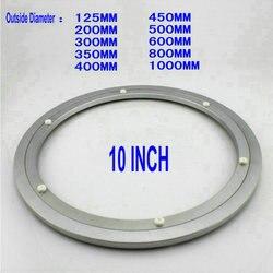 Hq H250 خارج القطر 250 ملليمتر (10 بوصة) هادئ الصلبة ناعم الألومنيوم كسلان سوزان محمل طاولة الطعام شحن مجاني