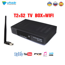 Vmade Newest  DVB T2 S2 8902 Black 1080P full HD  terrestrial digital Satellite TV signal receiver Decoder  PVR  set top box цена и фото