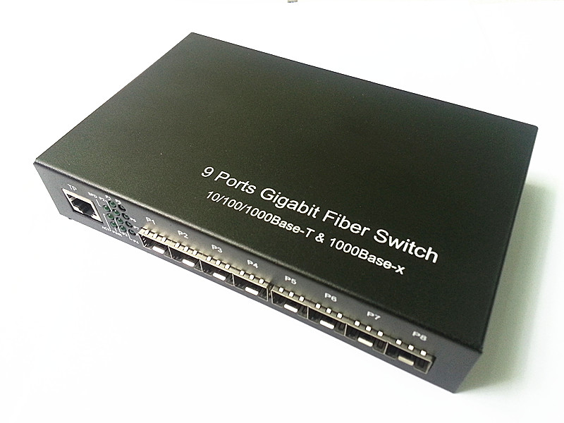 9 portów Gigabit Ethernet Optical Fibre Switch1310 / 1490/1550 / - Sprzęt komunikacyjny - Zdjęcie 2
