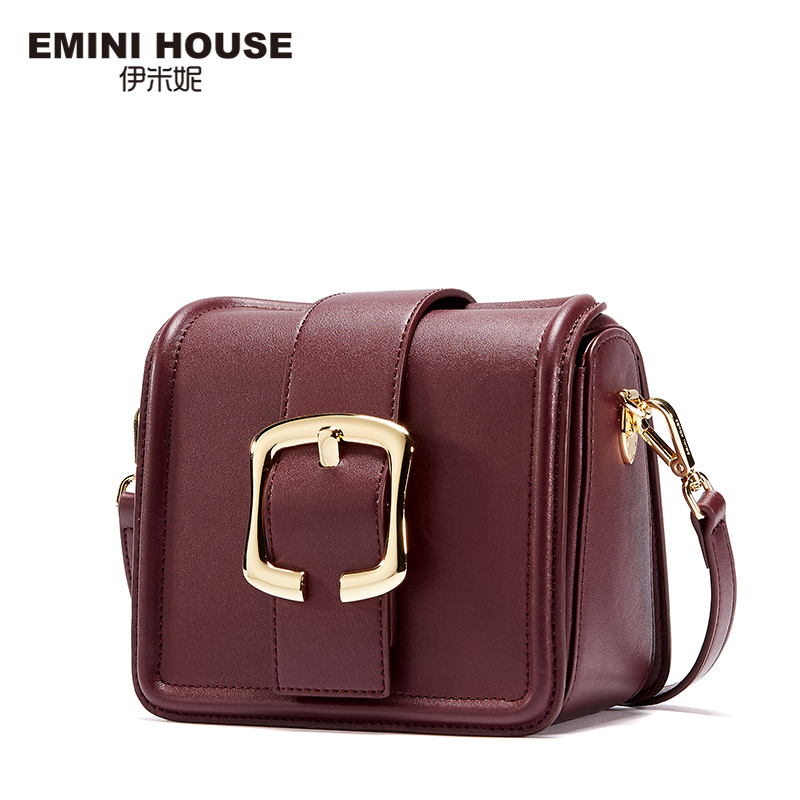 EMINI HOUSE Fashion Belt  Split Leather Women Messenger Bags Crossbody Bags For Women Leather Bags Ladies Shoulder Bag серьги fashion house цвет белый золотистый fh33018