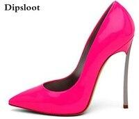 מותג נשים עקבים גבוהים אישה נעלי משאבות עקב דק פגיון של נשים ורוד חם נעלי נעלי חתונה עקבים גבוהים הבוהן מחודדת גודל 42