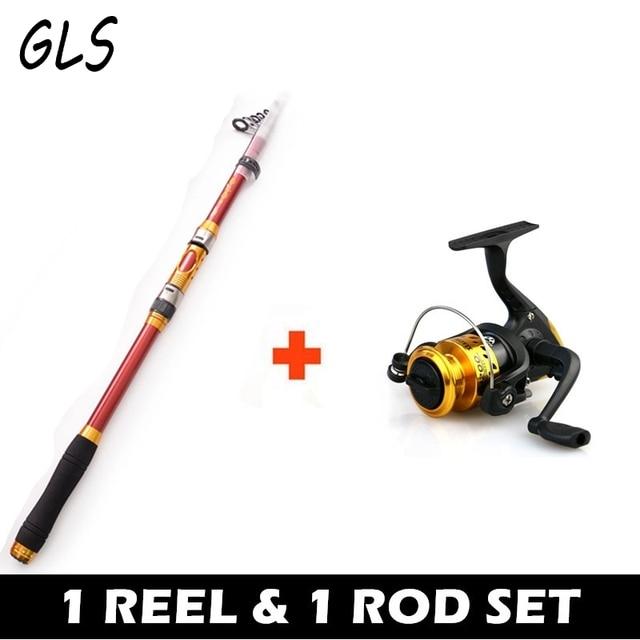 Combination of fishing rod and reel2.1M 2.4M 2.7M 3.0M 3.6M Portable Telescopic Fishing Rod Gift nylon fishing line