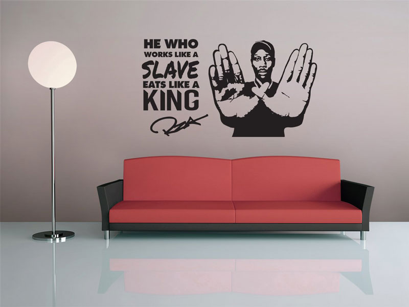Vinyl Wall Decal - Hip Hop - Rap - Wu Tang Clan, Music Room Decorative Wall Sticker Home Living Room Bedroom Wall Sticker YY13(China)