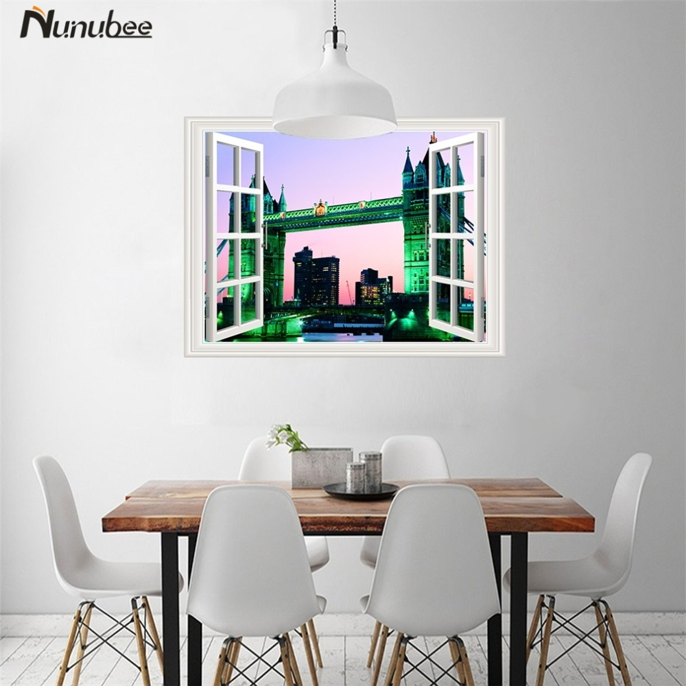 Poster design and printing online - Nunubee Self Adhesive Sticker 3d Paintings Poster Prints Vinyl Mural Removable Wall Art Wallpaper Nature