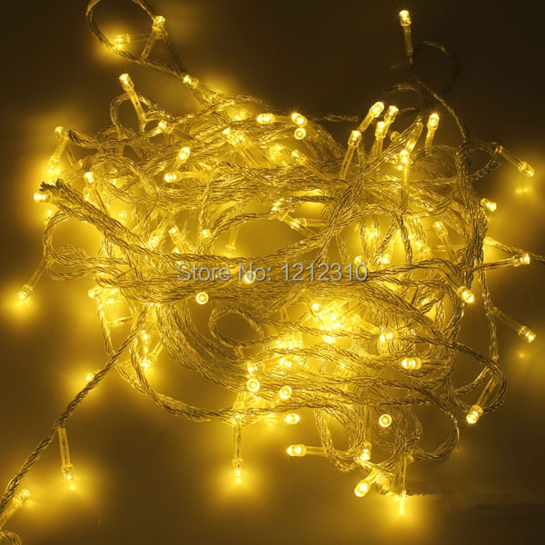 warm white 50m 500 led string lighting wedding fairy christmas lights outdoor twinkle christmas decoration outdoor eu plug in led string from lights