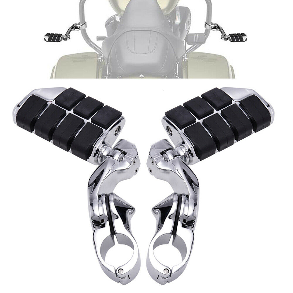 1 1 4 32mm Adjustable Highway Bar Short Foot Pegs Footrest Mount Clamps for Sportster Dyna