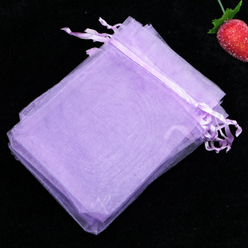 Wholesale 500pcs Orchid Organza Bag 15x20cm Jewelry Cosmetics Packaging Bags Organza Pouches Wedding Decoration Favor Gift Bag