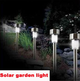 Stainless steel Solar lawn light for garden drcorative 100% solar ...