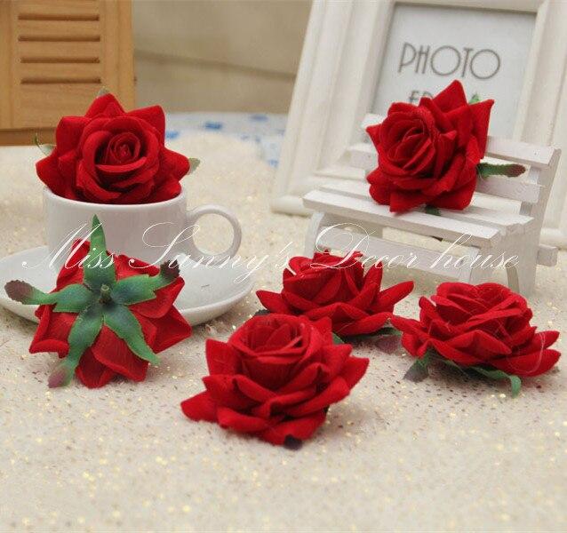 12 PCS LOT 5-6 CM Kain Flanel Bunga Silk Rose Flower Kepala pernikahan e26ca6c0e4