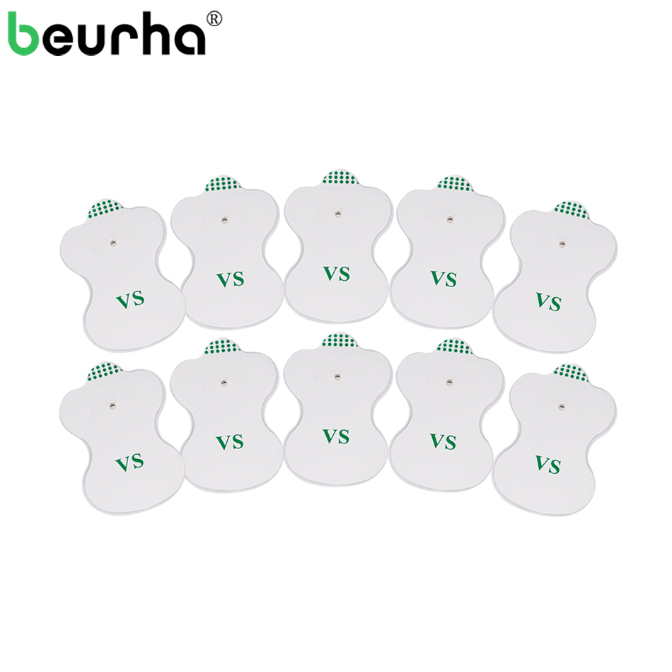 20PCS White Electrode Pads For Electric Tens Acupuncture Digital Therapy Machine for Slimming Electric Body Massager Frequency 4 electrode tens acupuncture electric therapy massageador machine pulse body slimming sculptor massager apparatus body care