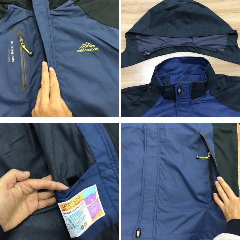 LOMAIYI Vodootporna Muška jakna Proljeće Jesen Zima Fleece Podstava - Muška odjeća - Foto 4