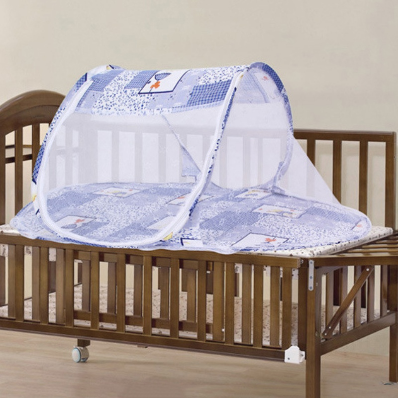2017 Portable Cute Infant Baby Bed Crib Folding Mosquito Net Comfortable Infant Cushion Mattress Pillow