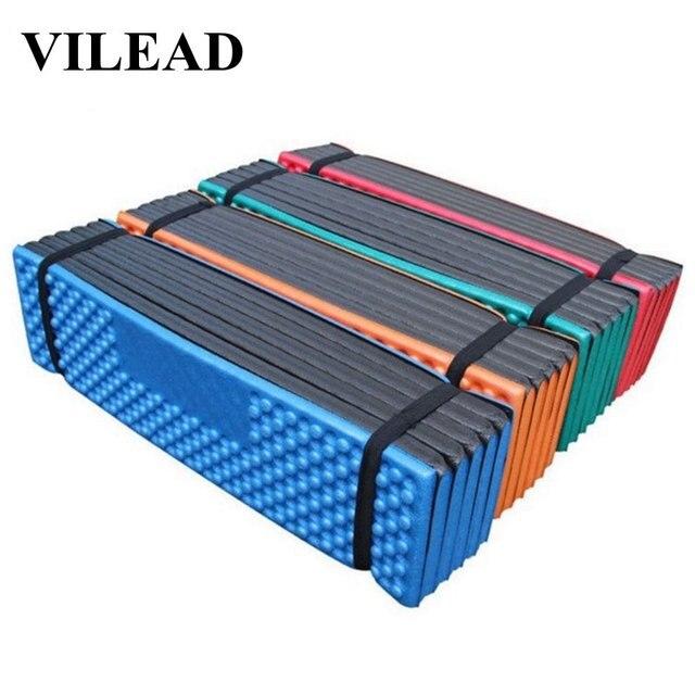 VILEAD 190*57 cm קמפינג מחצלת XPE Ultralight קצף מתקפל עמיד למים מזרן לקמפינג טיולים פיקניק חוף שינה מושב כרית