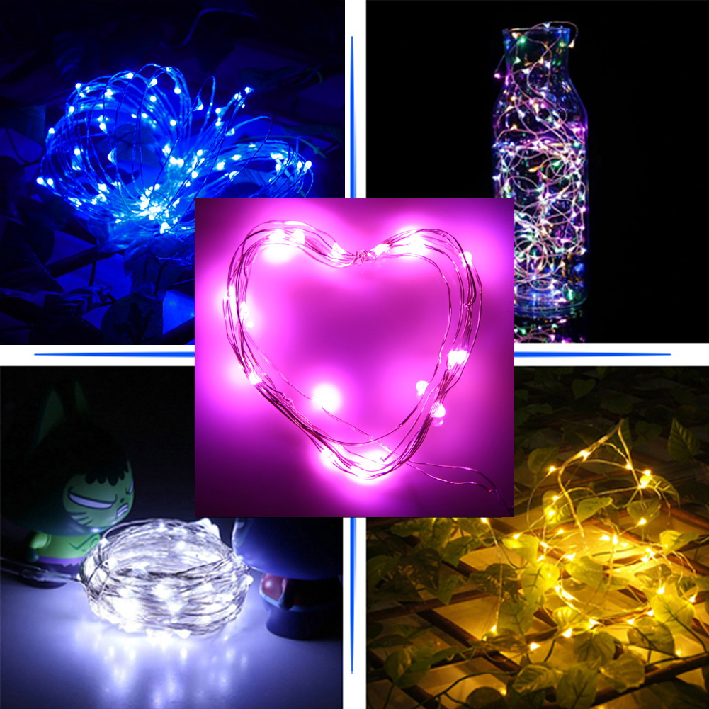 30 LED Copper Wire String Light 3m 30 LED Waterproof CR2032 Battery Lamp String Lights for Festival Wedding Party Home Decor
