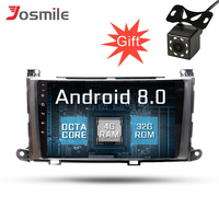 PX5 Android 8.0 Qcta Core Car Multimedia DVD Player For Toyota Sienna 2010 2014 4G RAM 32G ROM Wifi GPS BT SWC FM Navigation