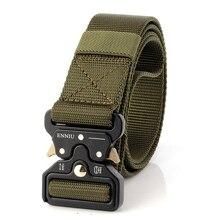 46c4d72b502 Equipamento militar Do Exército Cinto Tático Homens de Lona do Desenhista  Cintos Para Calças Jeans Casual