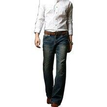 Mens Flared Jeans Boot Cut Leg Flared Slim Fit Mid Waist Male Designer Classic Denim Jeans Pants Bell Bottom Jeans Size 27-38