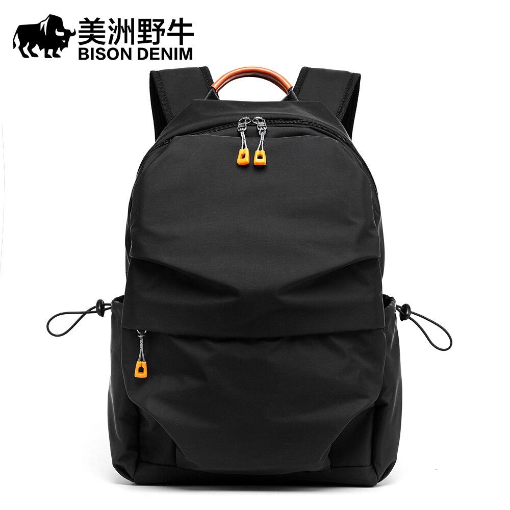 BISON DENIM mode Anti-voleur sac à dos hommes loisirs voyage sac à dos sacs d'école adolescent sac à dos pour ordinateur portable pour homme N2768