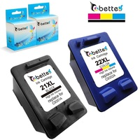 Free Shipping Inkjet Printer Ink Cartridge For Hp21 Hp22 For HP 21XL 22XL C9351A C9352A F380